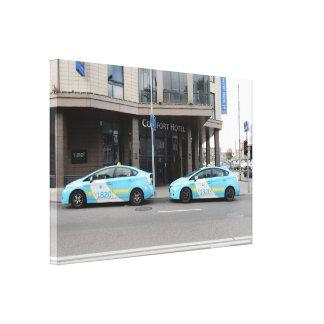 Taxis en Vilna Lituania Impresiones En Lona Estiradas