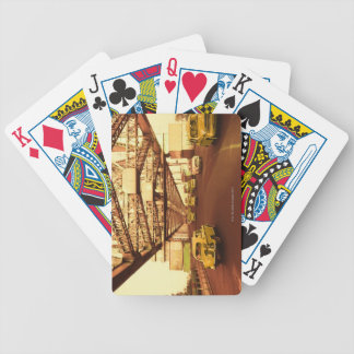 Taxi's on a Bridge Bicycle Playing Cards