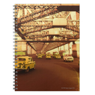 Taxi's on a Bridge Spiral Note Books