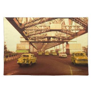 Taxi's on a Bridge Placemat