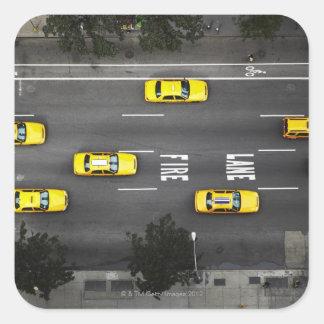 Taxis Pegatina Cuadrada