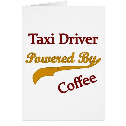 Taxista accionado por el café tarjeton