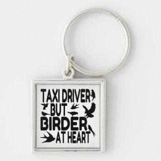 Taxista del amante del pájaro llaveros personalizados