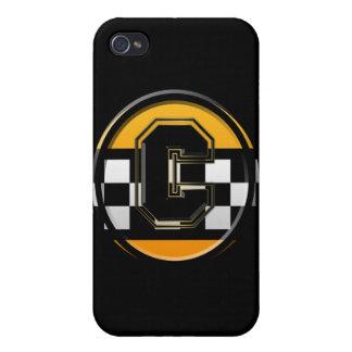 Taxista inicial de C iPhone 4 Carcasas
