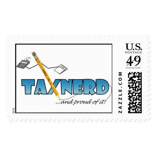 TaxNerds Lick Tax Problems Postage Stamp