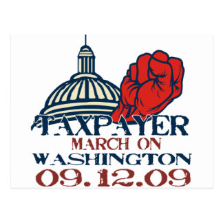 taxpayer march revised design postcard