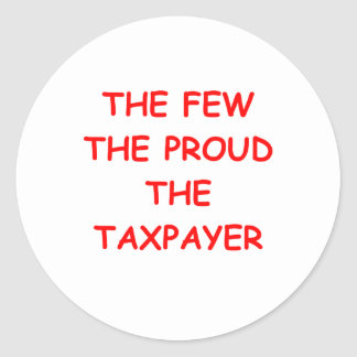 TAXPAYER CLASSIC ROUND STICKER