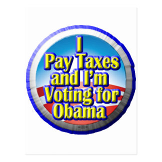 Taxpayers for Obama Postcard