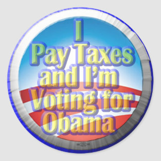 Taxpayers for Obama Round Sticker