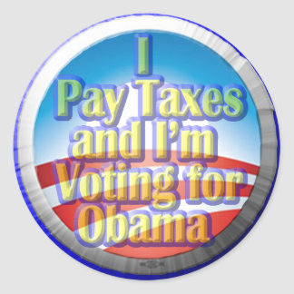 Taxpayers for Obama Stickers