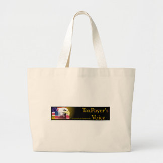 TaxPayers Voice Large Tote Bag