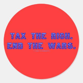 TaxRichEndWars Classic Round Sticker