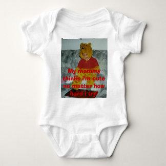Tay as winnie the pooh, My mommy thinks i'm cut... Baby Bodysuit