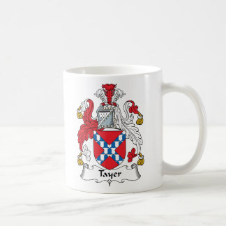 Tayer Family Crest Classic White Coffee Mug