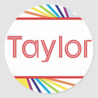Taylor4 Classic Round Sticker