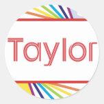 Taylor4 Pegatina Redonda