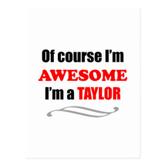 Taylor Awesome Family Postcard