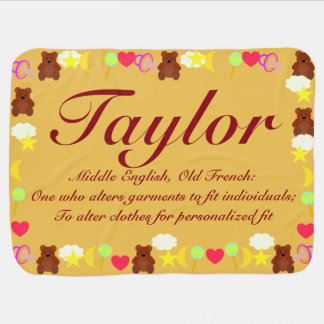 Baby name taylor gifts on zazzle taylor baby blanket template negle Image collections