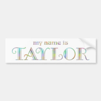 Taylor Car Bumper Sticker