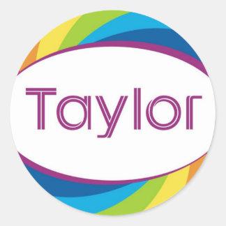 Taylor Classic Round Sticker