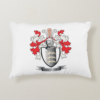 Taylor Coat of Arms Accent Pillow