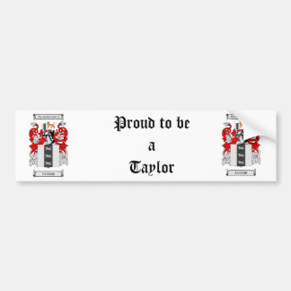 Taylor Coat of Arms Bumper Sticker