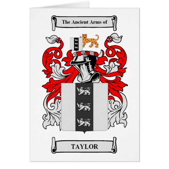 Taylor Coat of Arms Card