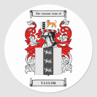 Taylor Coat of Arms Classic Round Sticker