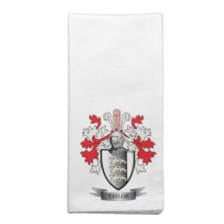 Taylor Coat of Arms Cloth Napkin