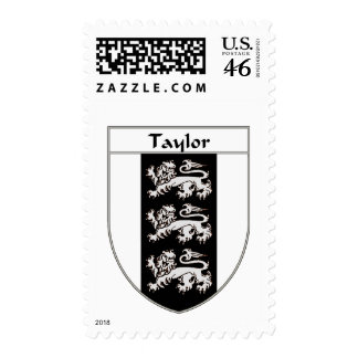 Taylor Coat of Arms/Family Crest Postage Stamp