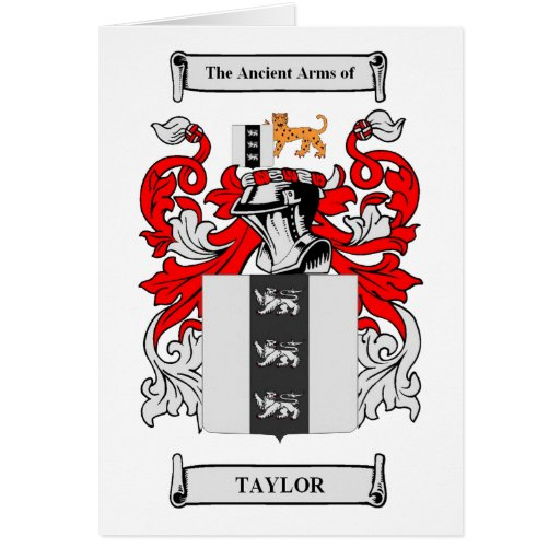 Taylor Coat of Arms Greeting Card