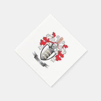 Taylor Coat of Arms Paper Napkin