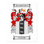 Taylor Coat of Arms Post Cards
