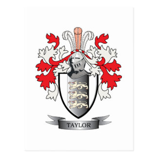 Taylor Coat of Arms Postcard