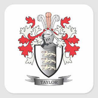 Taylor Coat of Arms Square Sticker