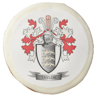 Taylor Coat of Arms Sugar Cookie