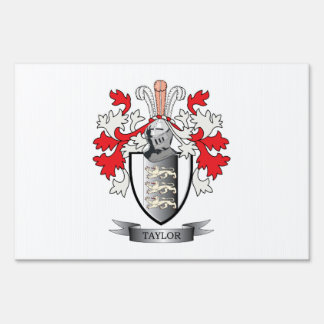 Taylor Coat of Arms Yard Sign