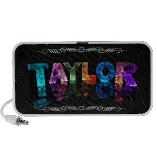 Taylor conocido - nombre en las luces (fotografía) portátil altavoces