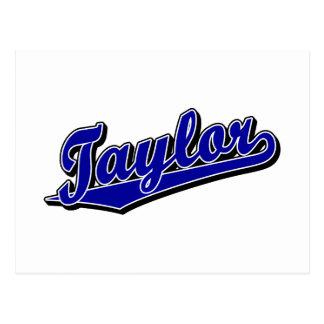 Taylor en azul tarjetas postales