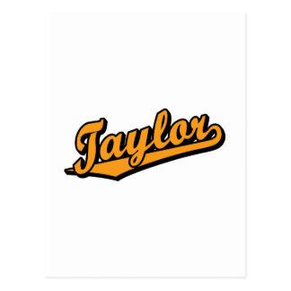 Taylor en naranja tarjetas postales