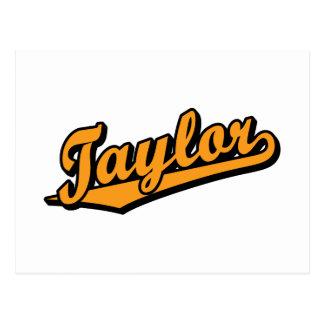 Taylor en naranja postal