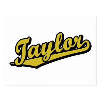 Taylor en oro tarjeta postal