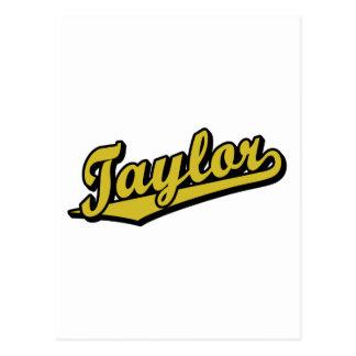 Taylor en oro postales