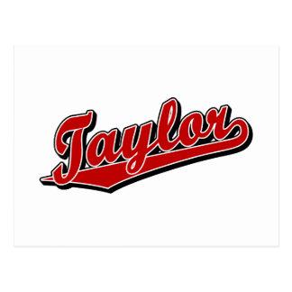 Taylor en rojo tarjetas postales
