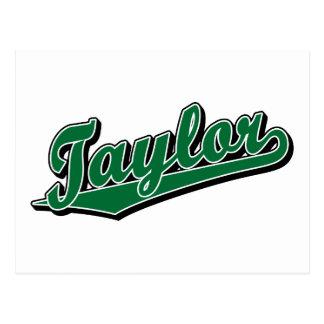 Taylor en verde tarjetas postales