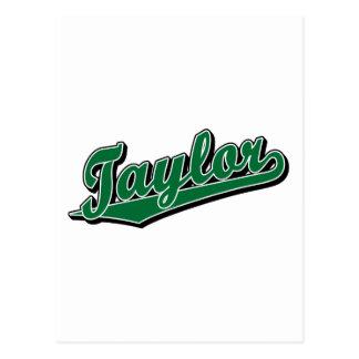 Taylor en verde postal