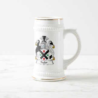 Taylor Family Crest Beer Stein