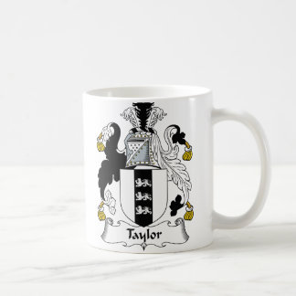Taylor Family Crest Classic White Coffee Mug