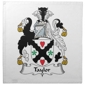 Taylor Family Crest Cloth Napkin