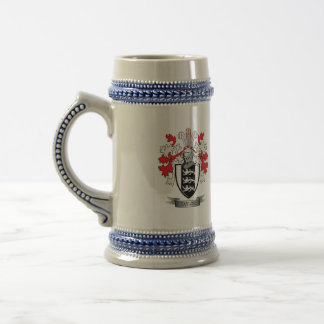 Taylor Family Crest Coat of Arms Beer Stein